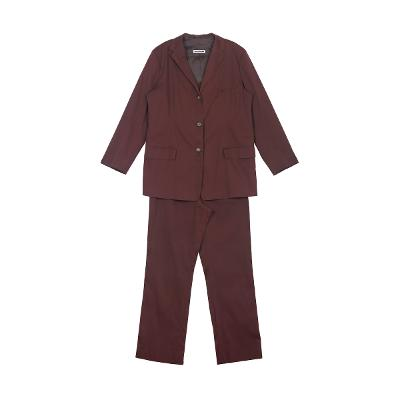 simple three button jacket wine & modern design pants wine